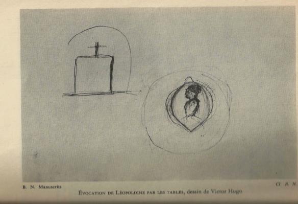 Apparizione di Léopoldine - disegno di V. Hugo