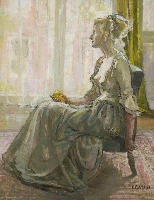 Ethel Léontine Gabain (1883-1950)Diana Wynyard in 'The Silent Knight_--the-canaries-the-bride