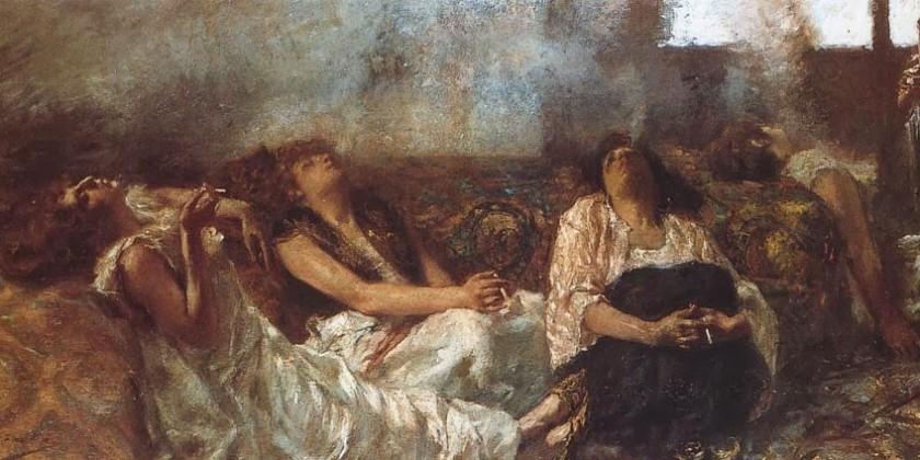 Gaetano Previati - Fumatrici di oppio, 1887.jpg